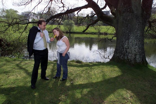 At some point in the past, Alex Salmond fed a Solero to a woman next to a lake on a sunny afternoon.