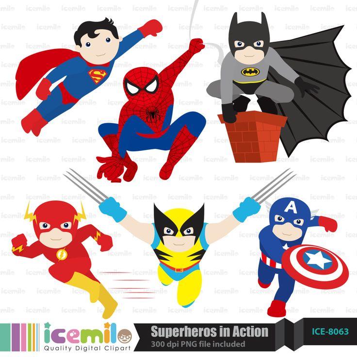 Superheros in Action (1500×1500)