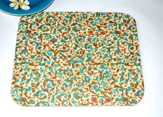 Mousepad Fiori Untersetzer Ablage handmade von Arsunica auf Etsy, €9.00