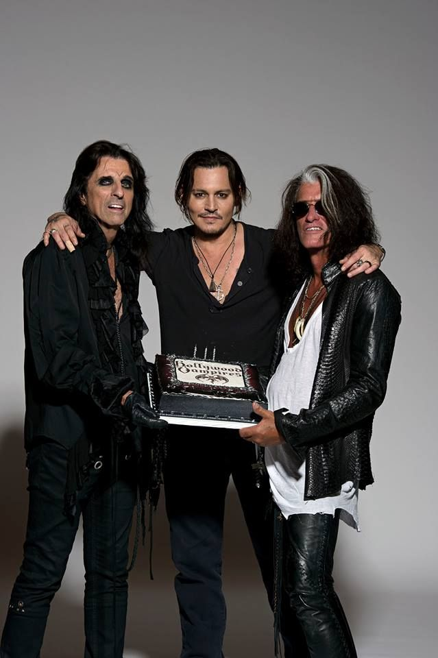 Johnny Depp, Alice Cooper, & Joe Perry, are a band called the Hollywood Vampires.... Take my $$$                                                                                                                                                                                 More