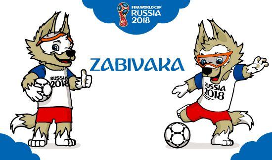 Zabivaka mascota del Mundial de Fútbol 2018 (2 poses). Vector e imagen normal