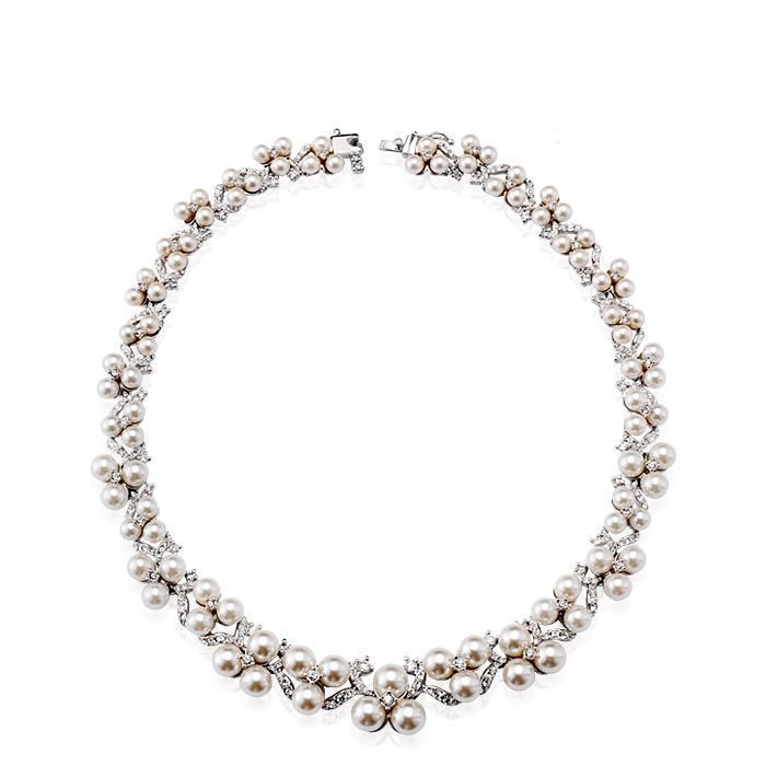 ModernChokers Simulated Pearl Collar Necklaces