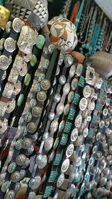 Great selection of Concho Belts at Albuquerque Pawn Shop