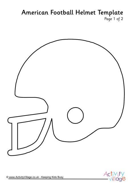 american football helmet template free printables pinterest