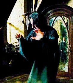 Severus Snape on the DADA runaway modeling Augusta Longbottom