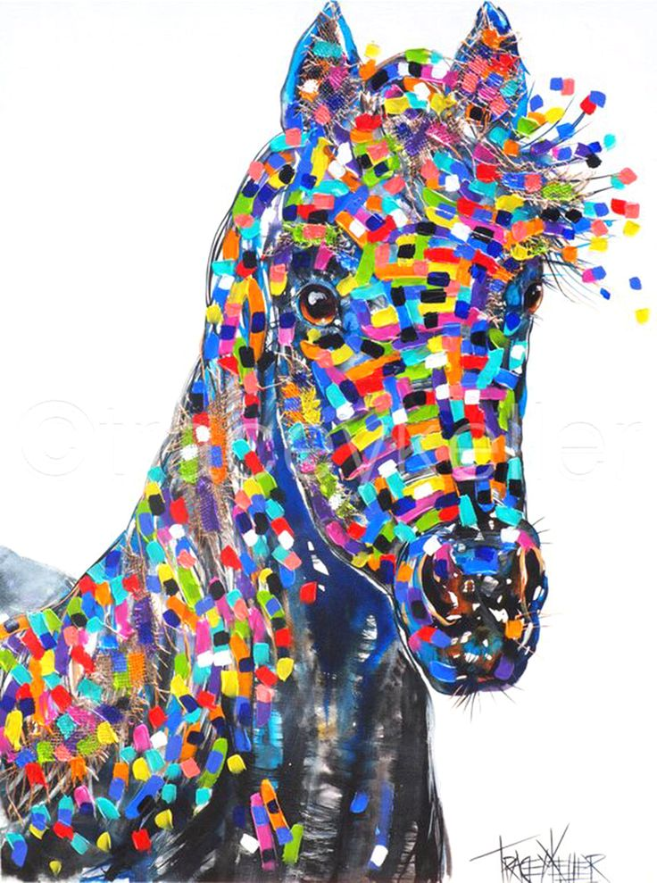 Beauty horse painting tracey keller