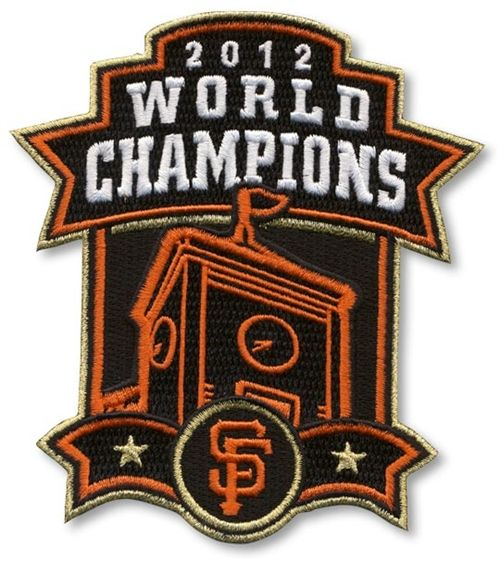 San Francisco Giants 2012 World Series Champions Clock Tower MLB Baseball Jersey Sleeve Patch