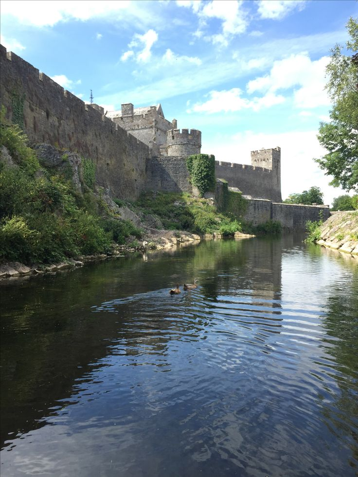 Cahir Castle in Ireland. View from the river.