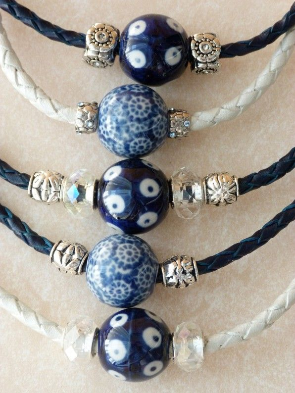 Nice idea to create a simple necklace made of Polish beads