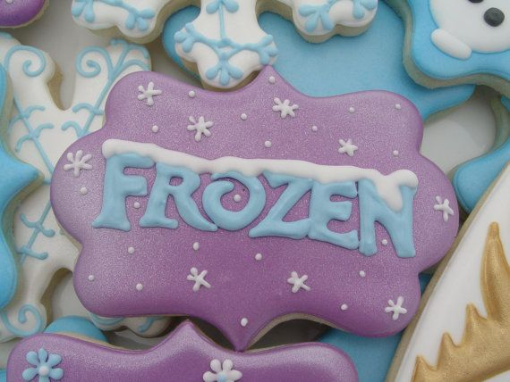 Disney Frozen Cookies Two Dozen by LuxeCookie on Etsy