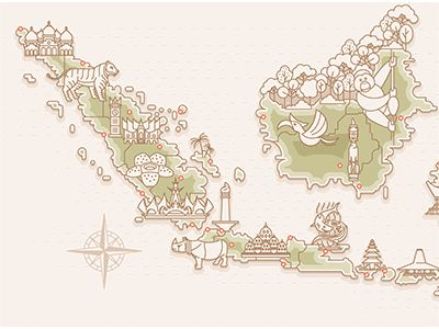 Map of Indonesia - for Logbook by Indra Permana