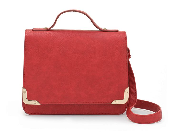 Structured Crossbody in Summertime red - only at Mat & May
