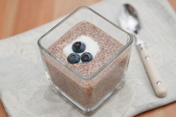Čokoládový puding z chia semienok