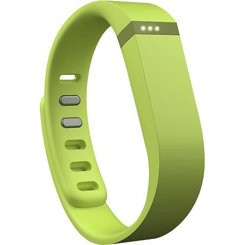 Fitbit - Flex Wireless Activity Tracker + Sleep Wristband - Lime - Larger Front