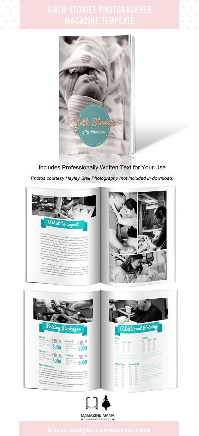 Birth photography welcome guide template to promote your hospital or birth photography sessions. #photoshoptemplate #birthphotographer #birthphotography #welcomeguide #photography welcome guide Price: $39.00