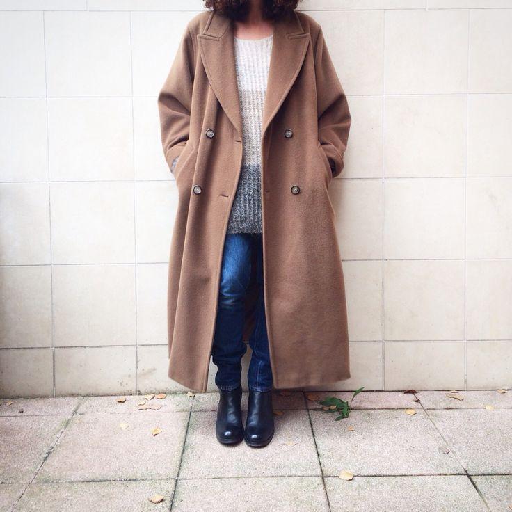 MAXMARA coat camel-colored wool, size 46