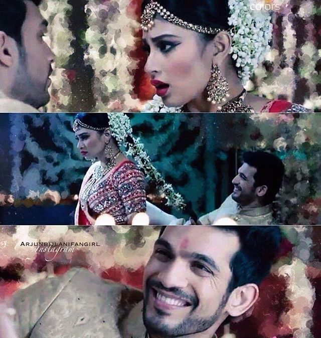 #Rivanya first night sences  Credit: Shrishti Roy (twitter). Always miss @imouniroy  and @arjunbijlani Jodi.  They are number one on screen Jodi in television . @naagin_colors  is superb  ✌