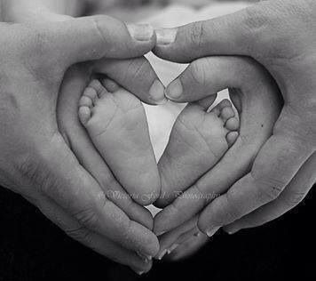 Hands and Baby Foot Heart Photo