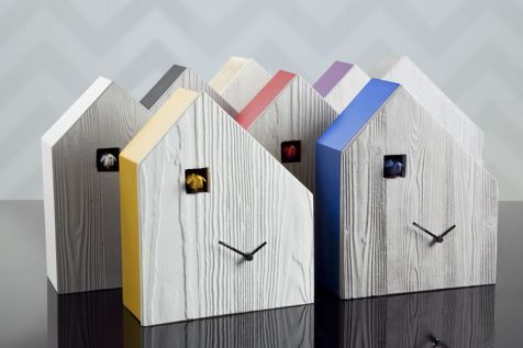 I'm a big the traditional cuckoo clock.  This modern version is fun too.  Cemento - Orologi a Cucù > Diamantini & Domeniconi
