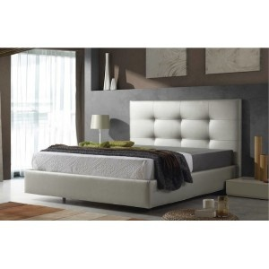 CAMA TAPIZADA EN PIEL SINTETICA  Synthetic leather upholstered bed  #bed #bedroom #cama #dormitorio