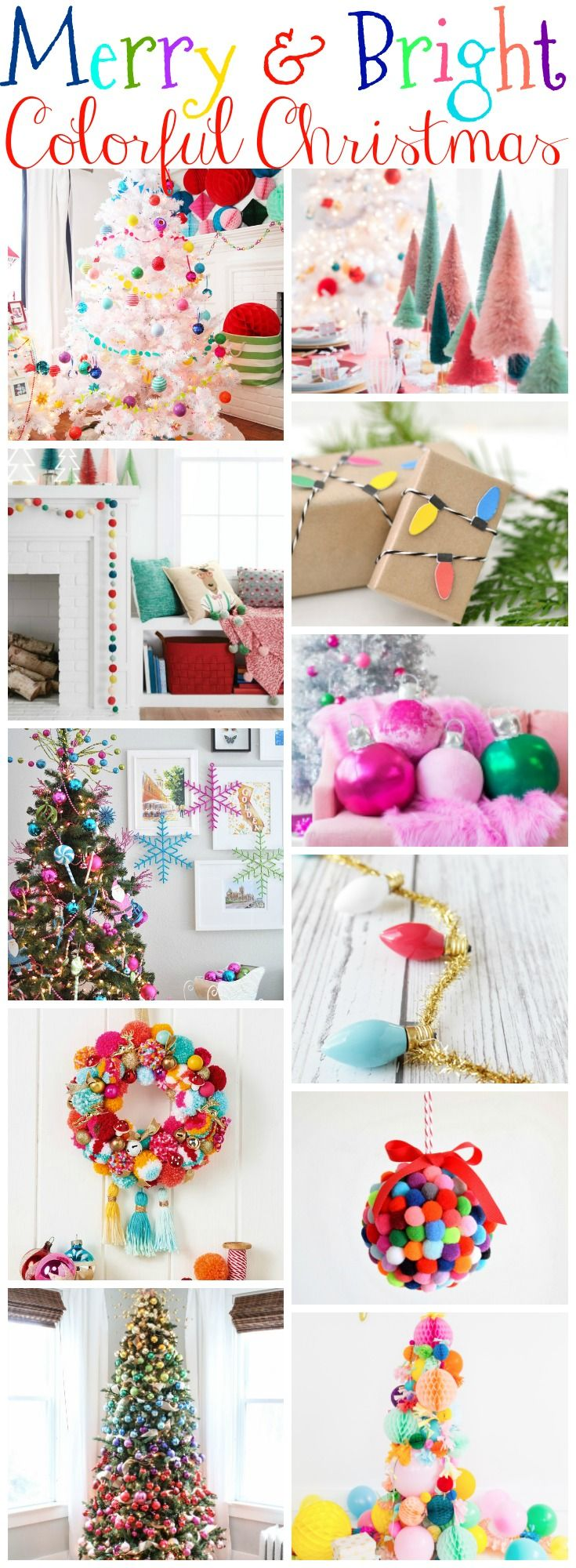 merry and bright colourful christmas style series (inspiration, DIY, decor, ideas and crafts)