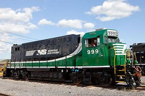 """New Life For the """"Green Weenie"""" Electric Locomotive.  Railway giant Norfolk Southern launched its ambitious all-electric NS 999 locomotive project in 2007, and since then it has been chugging steadily, if slowly, along. The pace has been picking up of late, though. At a recent trade conference, the company and its partner, Axion Power, documented improvements in the locomotive's battery management system that leapfrogs the technology into the next generation."""