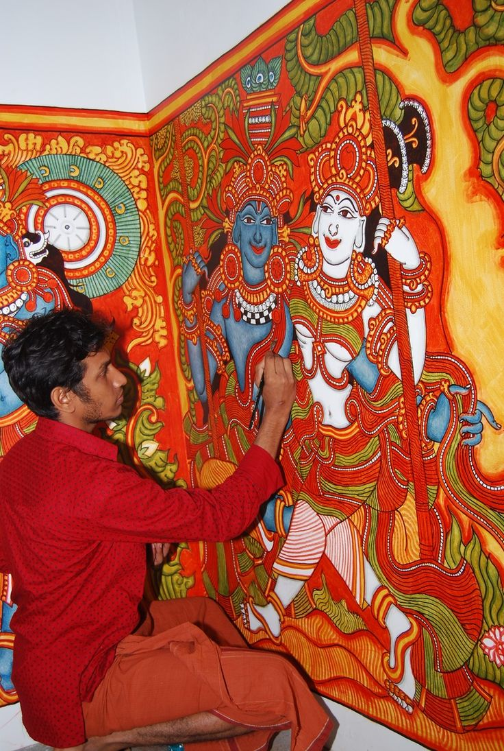 1000 images about indian mural painting on pinterest for Mural kerala
