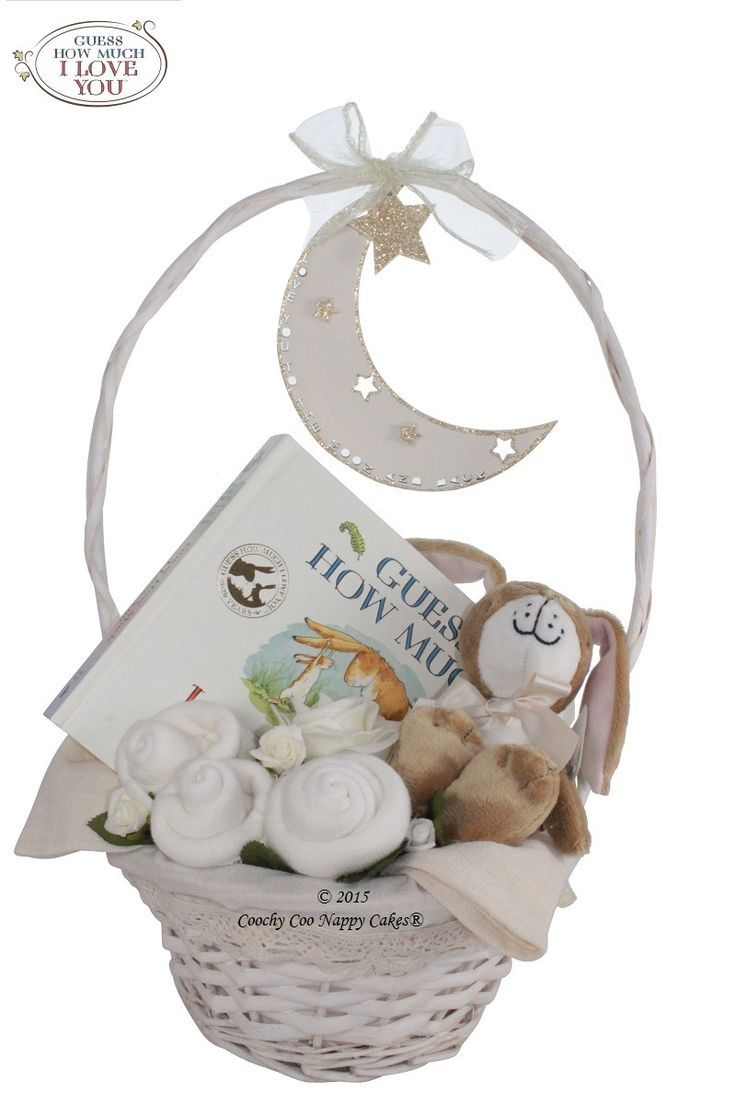 new child child present basket.Official merchandise for Guess How A lot I Love You child.... >> Discover even more at the photo link Learn more at  http://www.coochycoonappycakes.co.uk/