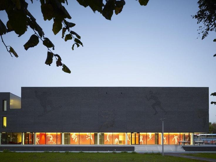 Sports College at Fontys University, by Mecanoo Architecten.    http://www.archello.com/en/project/fontys-sports-college