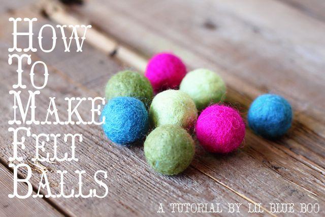 felt ballsFeltball