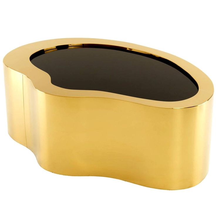 Coffee Table Gold And Black Glass Top