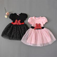 Милое платье на день рождения для девочек сказочный костюм в стиле Минни Маус с пышной юбкой и блестками для девочек одежда для детей от 3 до 8 лет(China (Mainland))