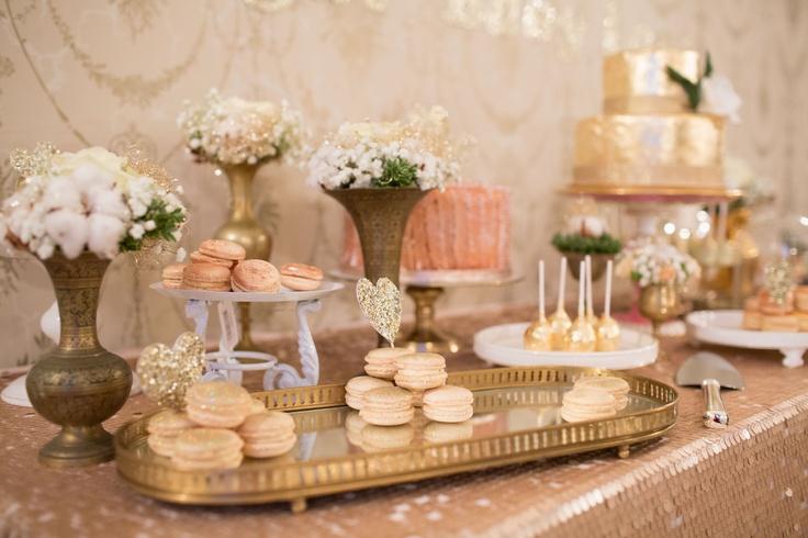 a beautiful cake table