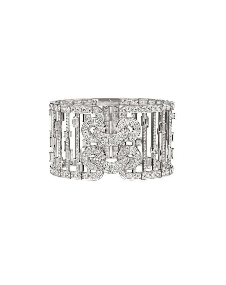 Qipao Collection by Harry Winston, Diamond Cuff Bracelet