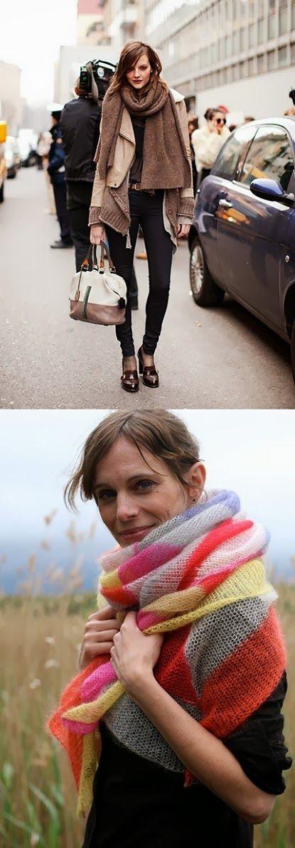 Autumn = Chunky scarves