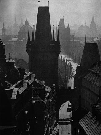 Bridge Street, from Prague in Pictures (1940). A shame there isn't more of Plicka's atmospheric photography on the web, his views of Prague present the city the way we usually imagine it from the s...