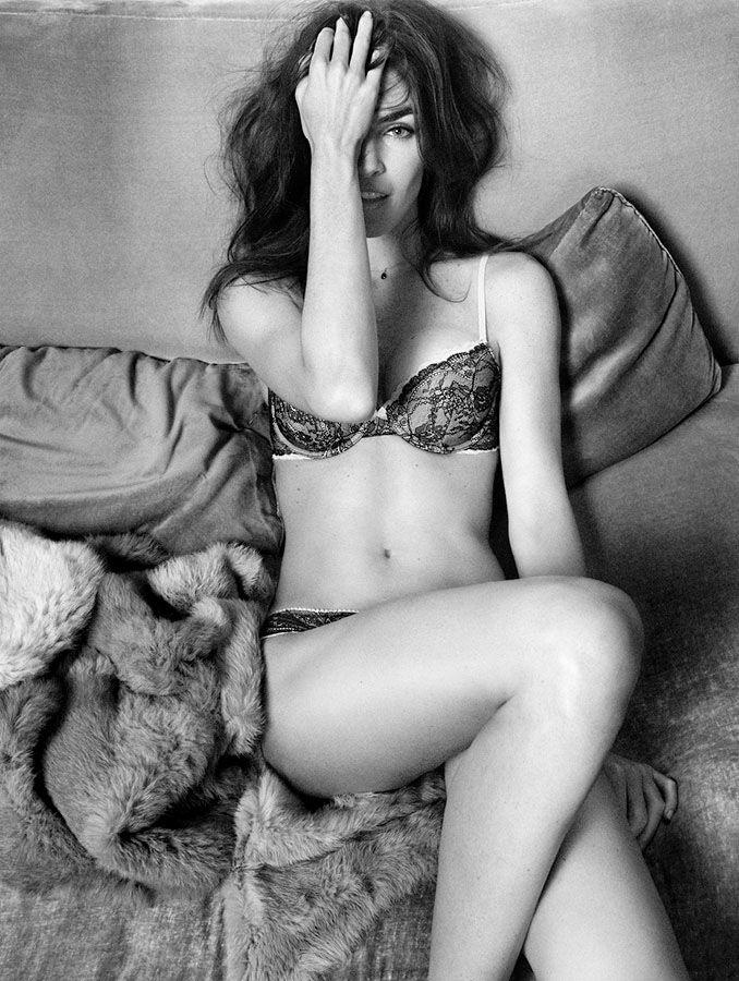 oysho lingerie hilary rhoda1 Hilary Rhoda Seduces for Oyshos Fall 2013 Lingerie Ads