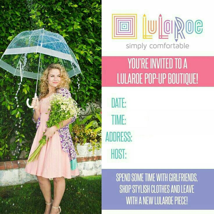 LuLaRoe Pop Up Invite Blank TrinityLuLaRoe