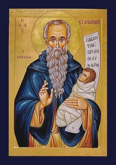 Saint Stylianos, protector of Children. Nice to print out and give each child at Sunday school