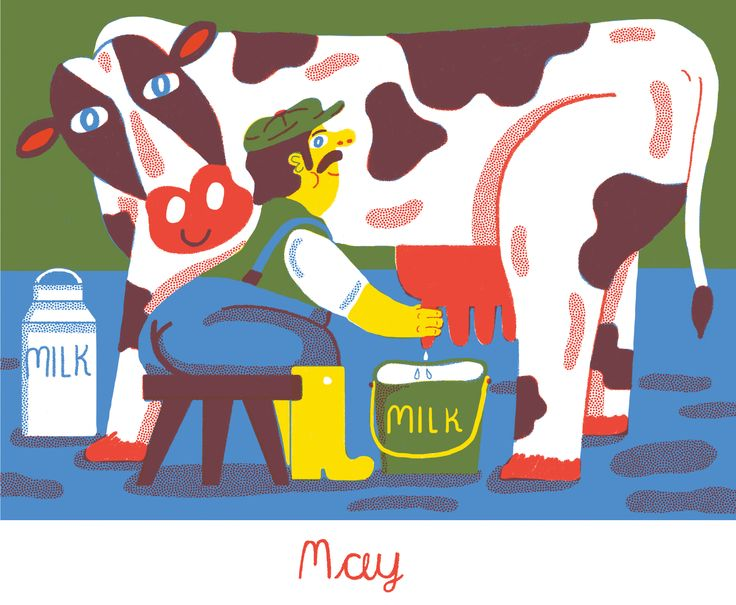 May milking cow - from 2015 calendar by Lauren Humphrey