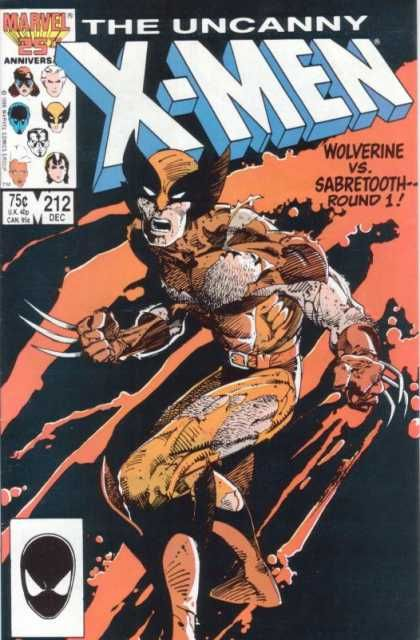 Uncanny X-Men 212 - Wolverine - Sabretooth - Marvel - X-men - 25th Anniversary - Barry Windsor-Smith