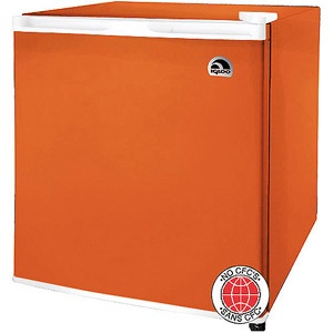 Orange mini fridge at the Walmart! good for guest room or home office