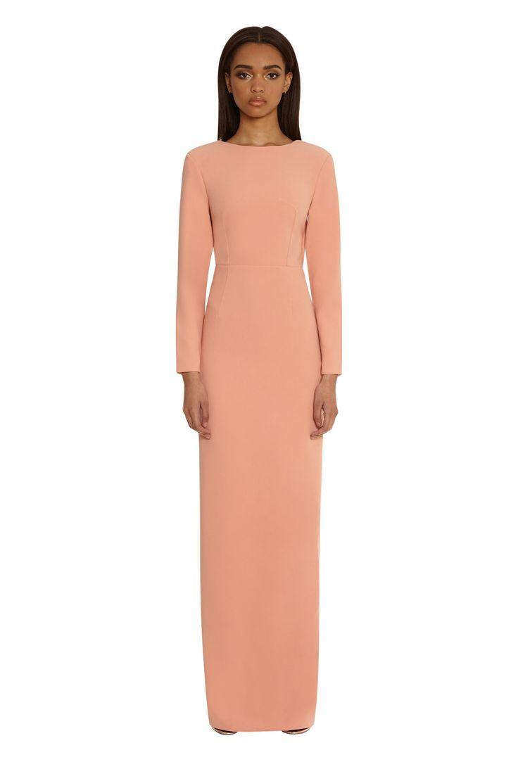 Blush peach maxi dress