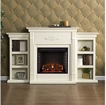 Emerson Electric Fireplace - Ivory