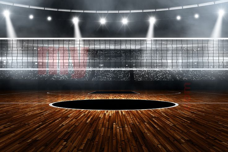 Digital background - volleyball stadium - horizontal ...