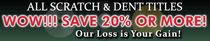 Scratch & Dent Save 20% or More! Imperfect Covers at Low Prices! Quality control at Elusive Disc is one of our #1 concerns. But, on occasion some of our albums arrive with covers that are not up to our standards. The albums themselves are new with absolutely nothing wrong with the vinyl or disc inside.