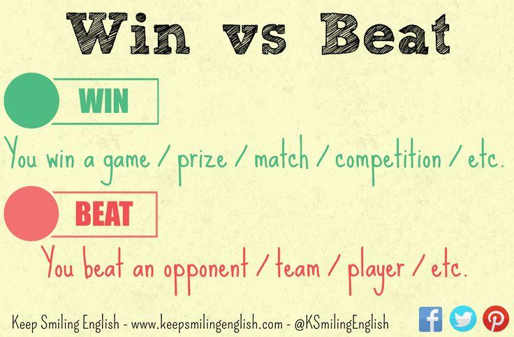 Confusing Verbs #9: Win vs Beat - KSE Academy | Academia de inglés