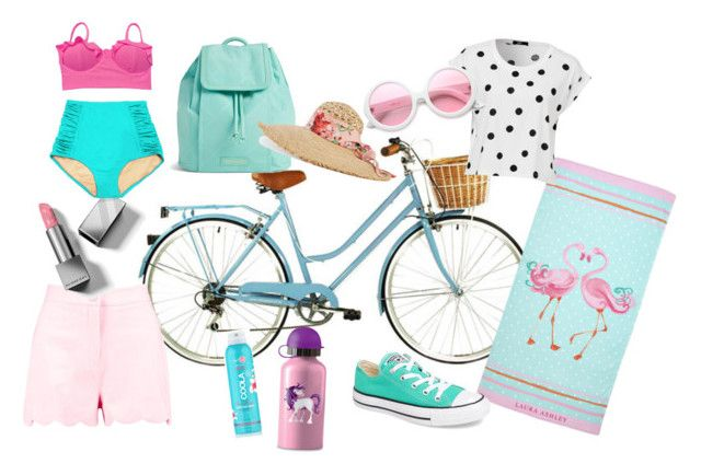 """""""Treks and trails"""" by vintagebarbie17 on Polyvore featuring Boohoo, Vera Bradley, Burberry, Laura Ashley, Converse, ZeroUV, COOLA Suncare, Gucci and vintage"""