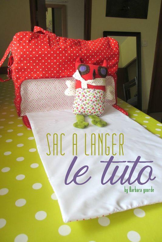 Tuto sac à langer avec tapis à langer intégré - By Barbara Gourde