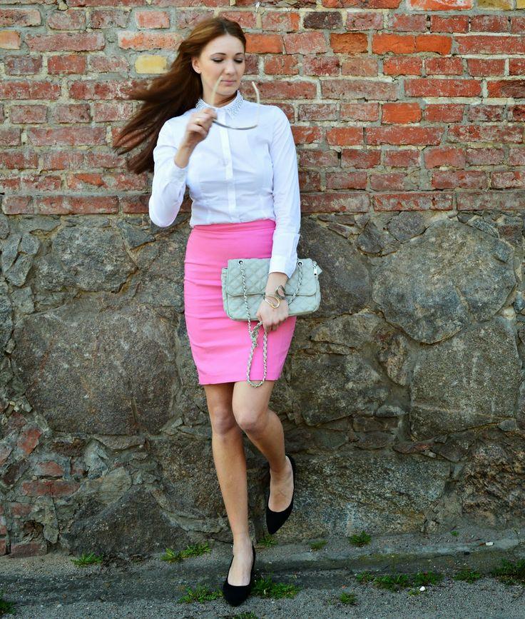 nataliesstyle.blogspot.com wearing Mohito skirt and shirt